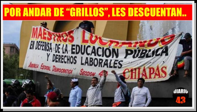 Aplican descuentos por faltas injustificadas a 69 mil maestros