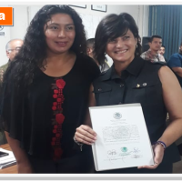 Reciben constancia la candidata a diputada federal por Morena en Reynosa