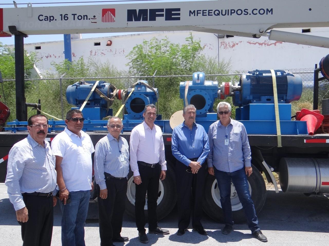 ➡️Instalados siete equipos de bombeo de agua en Reynosa