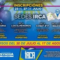 Impartirá IRCA cursos de verano gratuitos