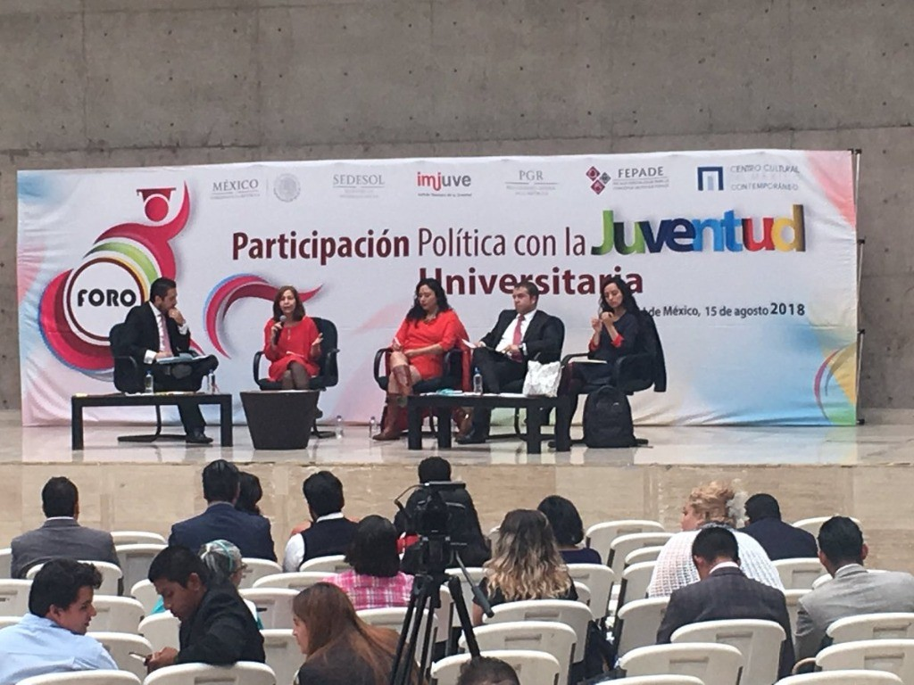 Jóvenes deben ser "motor" de transformación de México: Fepade