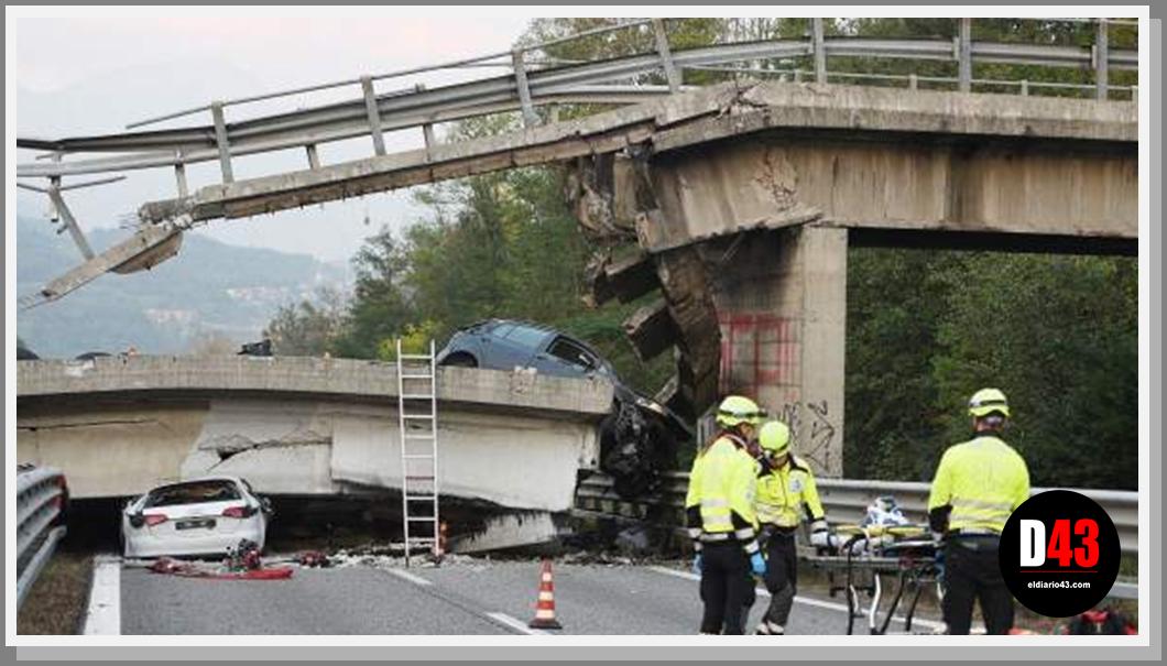 Suben a 39 los muertos por colapso de puente en Italia..