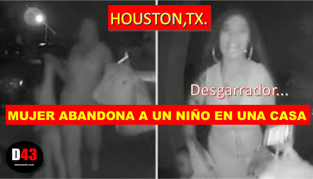 Captado en video: abandonan a niño en plena noche en Texas..