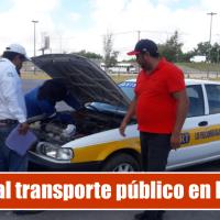 Revisan la revista mecánica y documental en transporte público en Reynosa