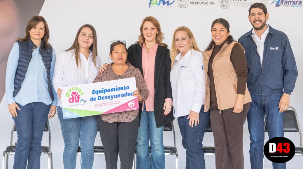 En el marco del Día Mundial de la Alimentación Mariana Gómez inaugura desayunador y entrega equipamiento a 16 escuelas de educación básica