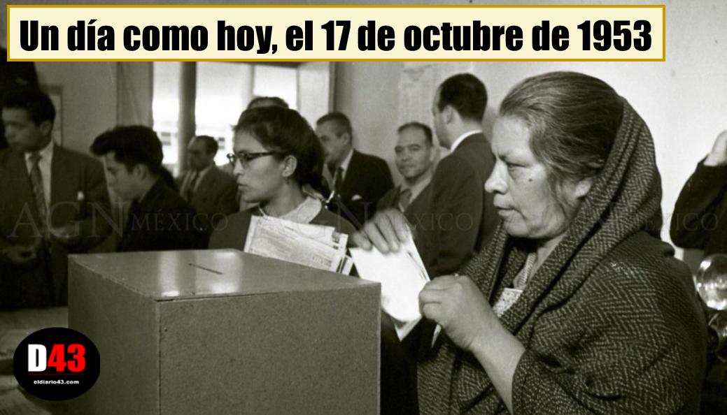 Hoy se conmemoran 65 años del derecho al voto femenino en México