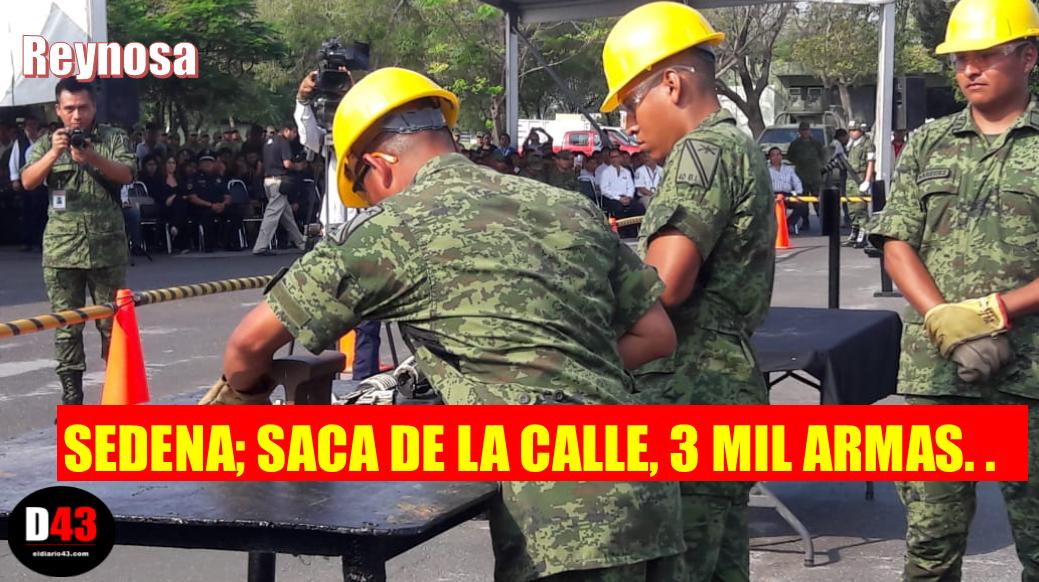 Destruyen  más de 3 mil armas en Reynosa