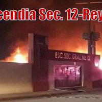 Incendio en  secundaria 12 en Reynosa, reportan cuantiosos daños materiales