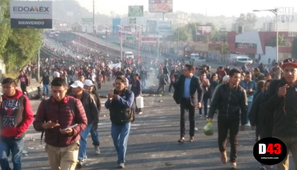 Bloquean la México-Pachuca, vecinos de San Juanico acusan abusos durante operativo