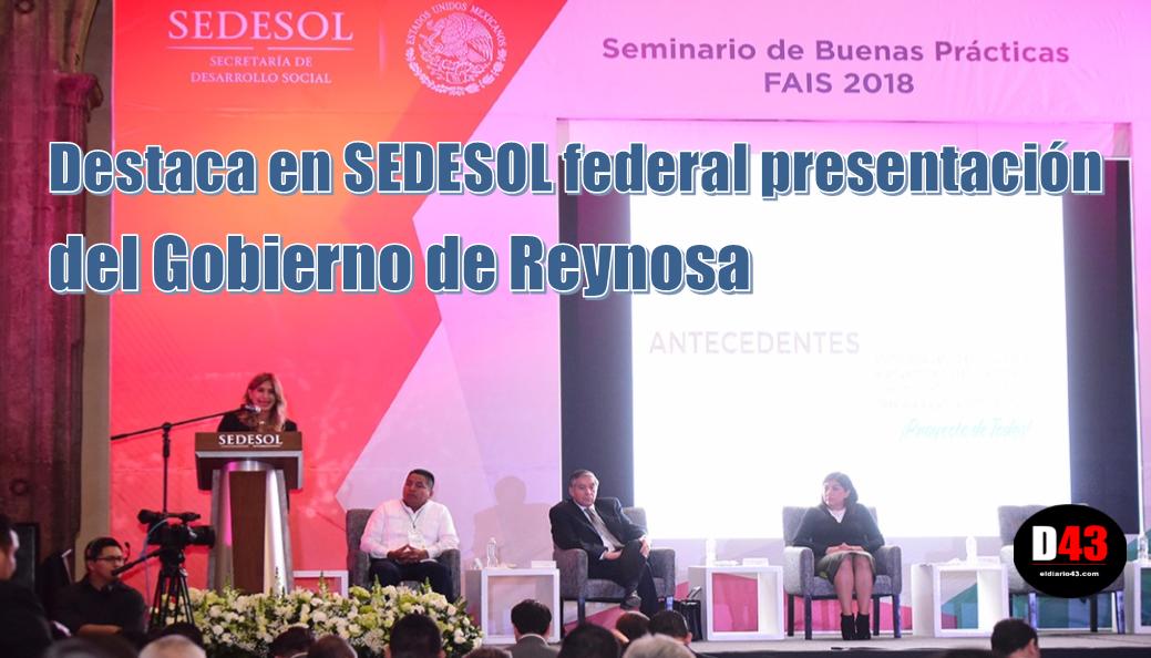 Es Reynosa caso de éxito en aplicación de recursos FAIS