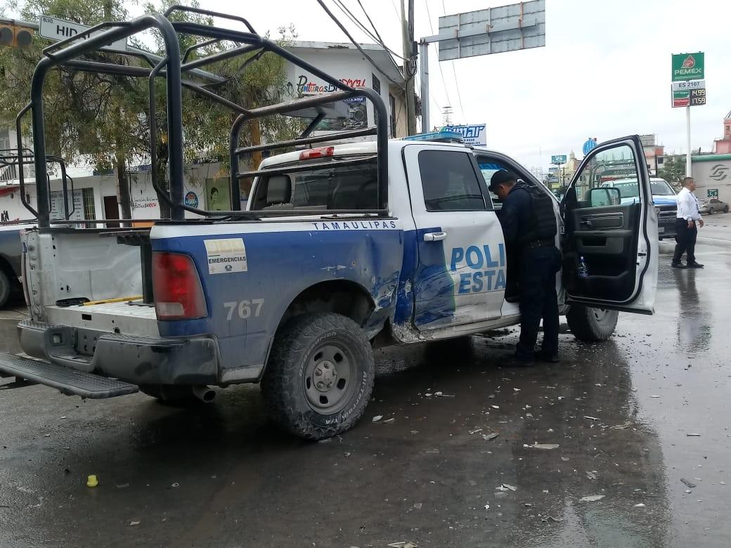 Oficial y dos más resultan  heridos  tras accidente en Reynosa