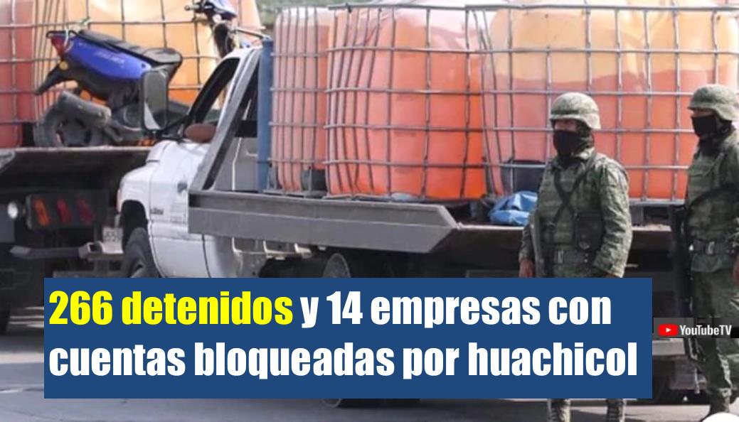 266 detenidos y 14 empresas con cuentas bloqueadas por huachicol: Gobierno de México