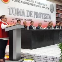 Gloria Santos Nueva  líder       del sindicato        de     maquiladoras      en Reynosa