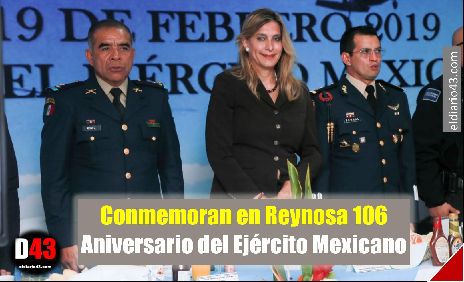 Conmemoran en Reynosa 106 Aniversario del Ejército Mexicano