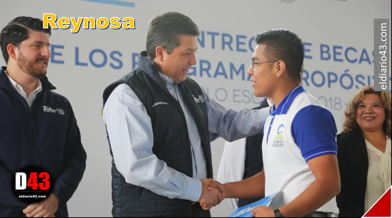 Gobernador Cabeza de Vaca, entrega becas Propósito y Virtud…
