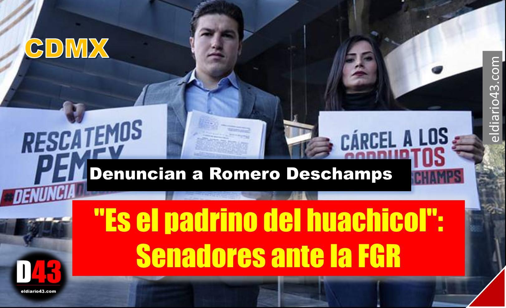 Senadores denuncian a Romero Deschamps ante la FGR por 11 delitos