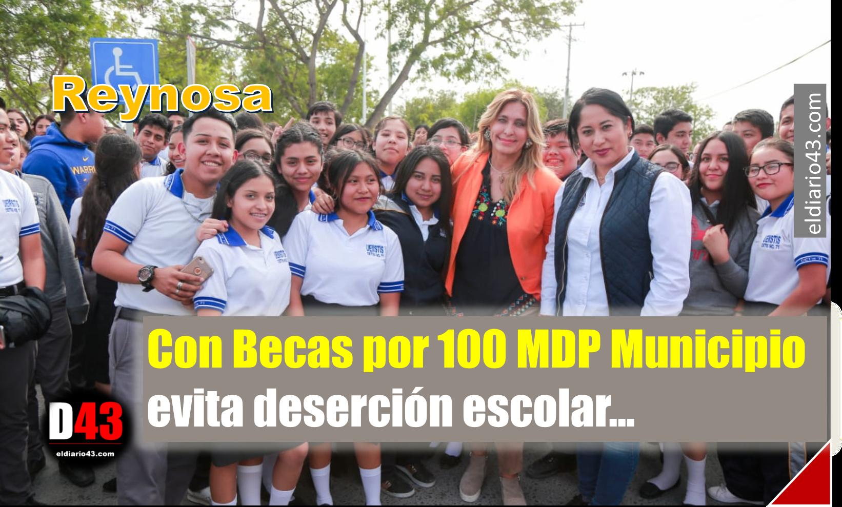 Con Becas por 100 MDP Municipio evita deserción escolar