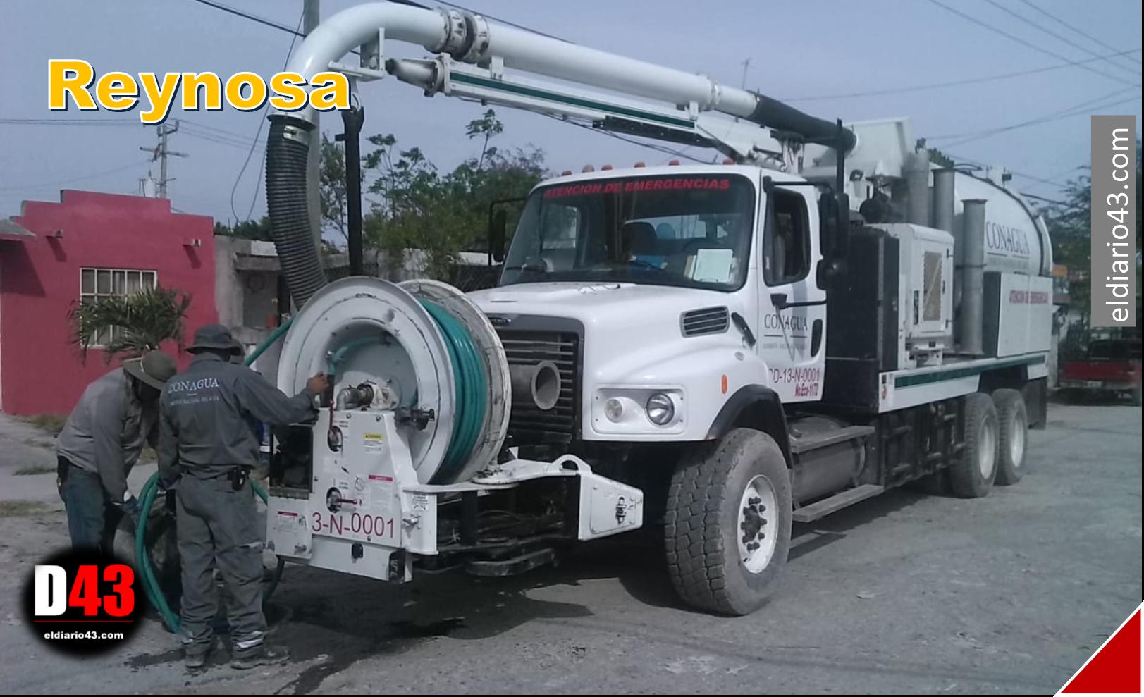 Rehabilita COMAPA de Reynosa caído en La Cañada