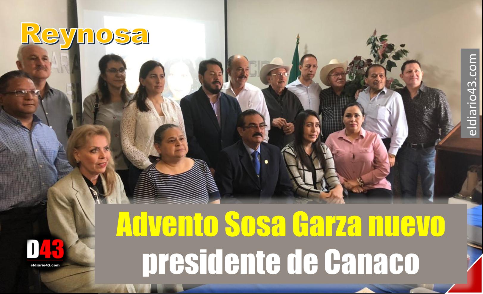 Toma protesta Advento Sosa Garza como presidente de Canaco Reynosa 2019 – 2020