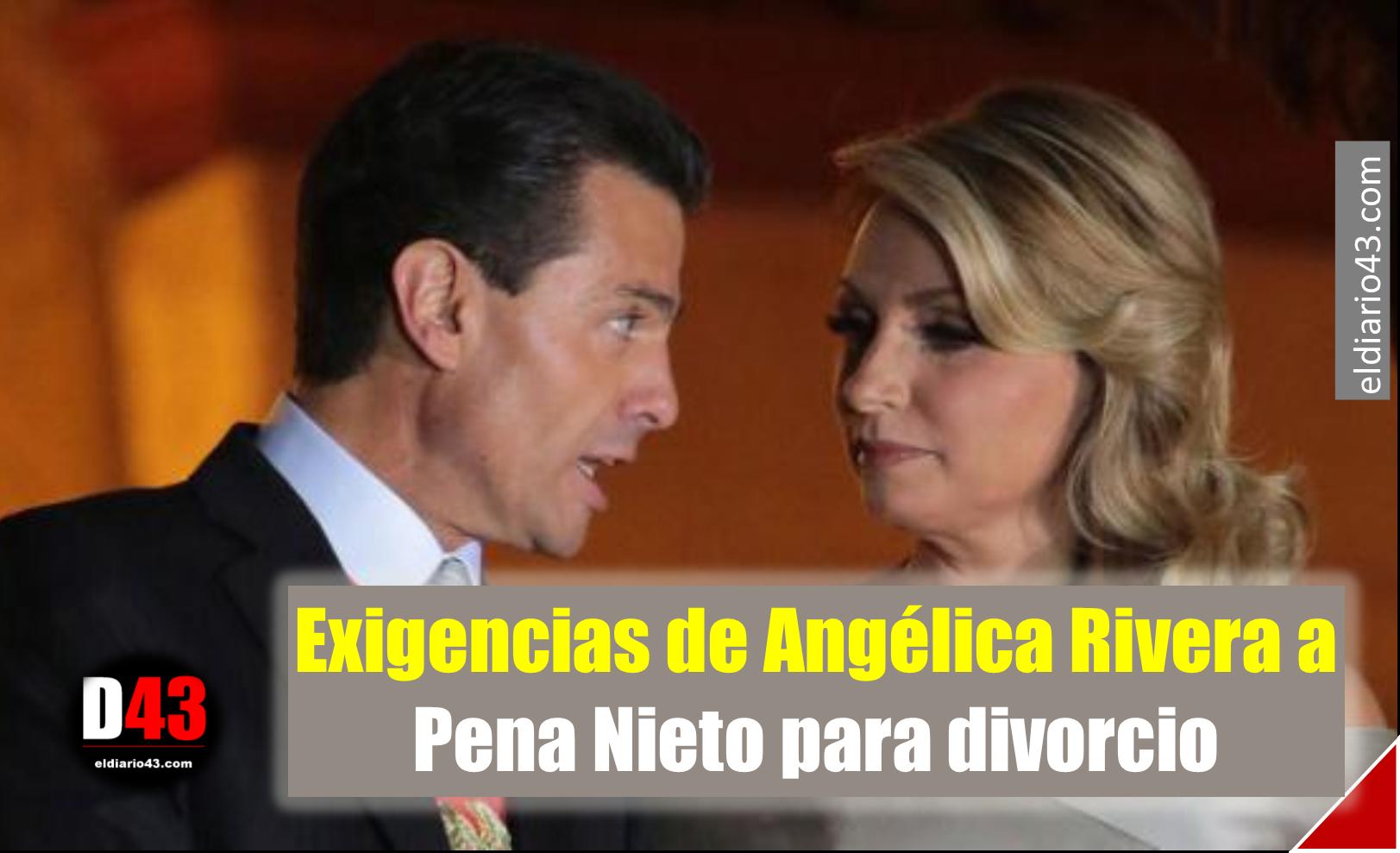 Las fuertes exigencias de Angélica Rivera a Peña Nieto para firmar el divorcio