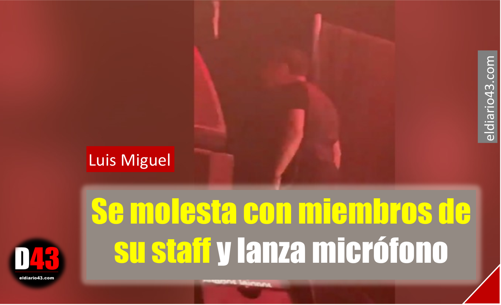 """El Sol"" enfurece y lanza micrófono a su staff.."