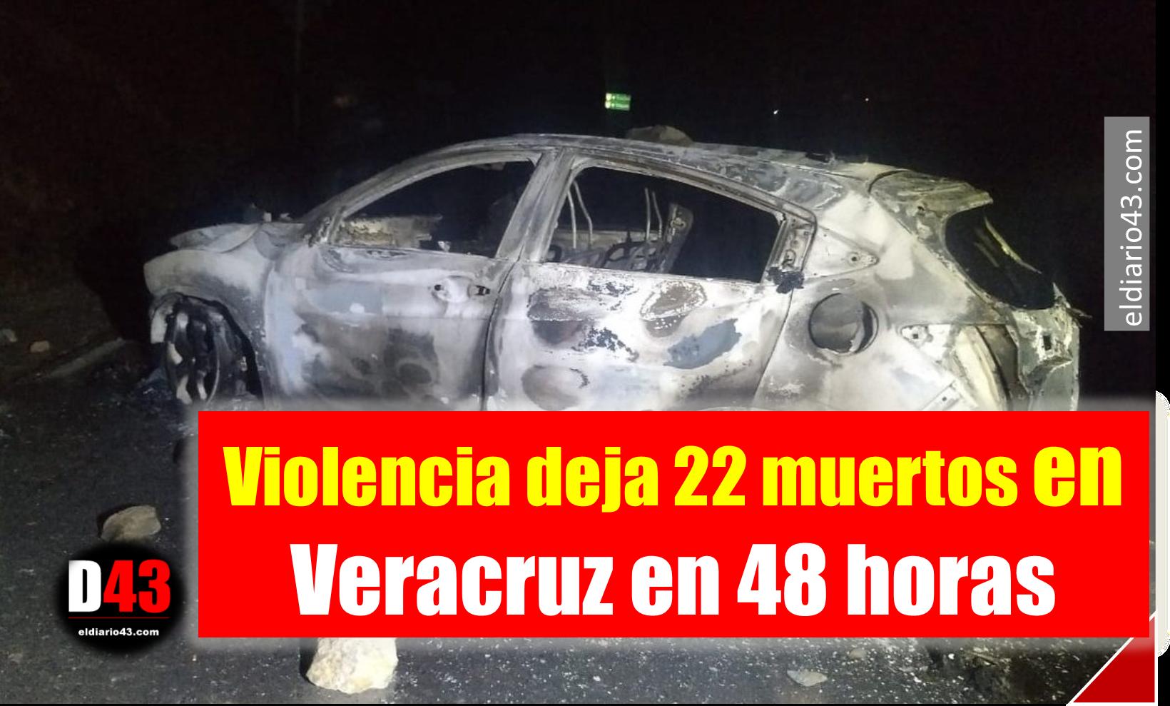 Violencia deja 22 muertos en Veracruz en 48 horas
