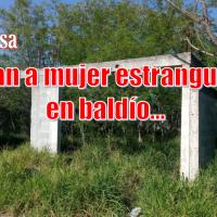 Hallan el cuerpo de una mujer asesinada en baldío de Reynosa