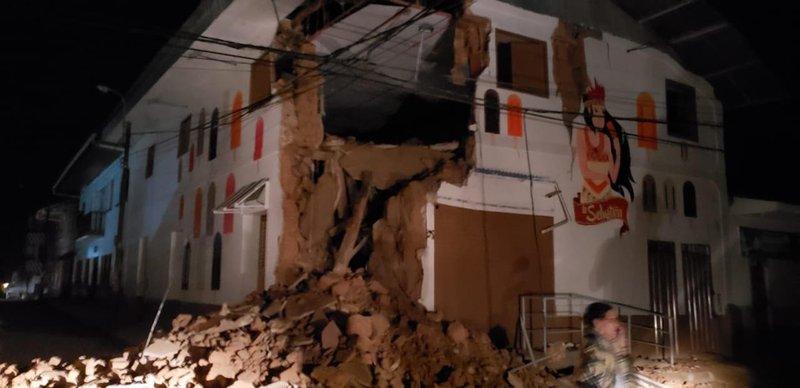 Sismo de magnitud 8 remece Amazonía de Perú, 1 muerto