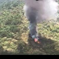 Localizan cuerpos de tripulantes de helicóptero siniestrado