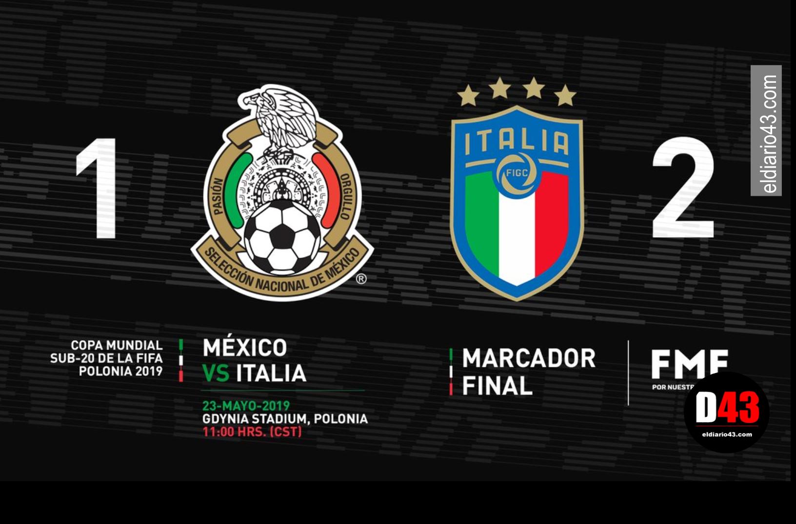 Selección Mexicana sufre primer descalabro en el Mundial Sub 20