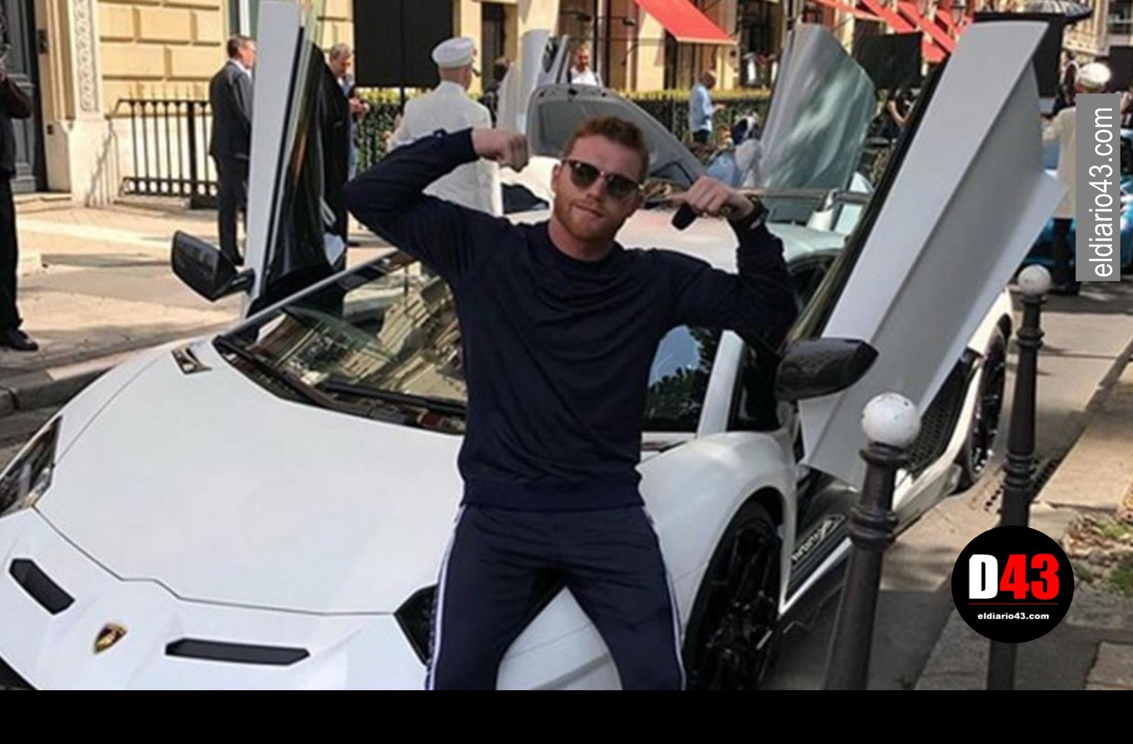 El 'Canelo' presumió su Lamborghini de 8 mdp en Francia