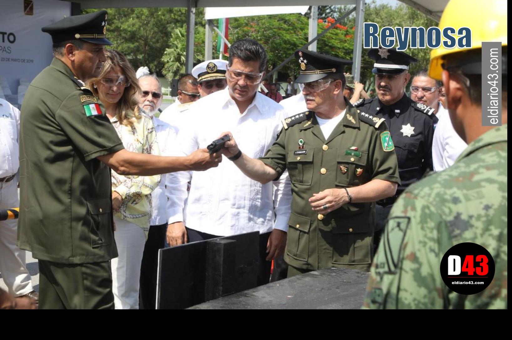 Destruyen mil 687 armas en campo militar de Reynosa