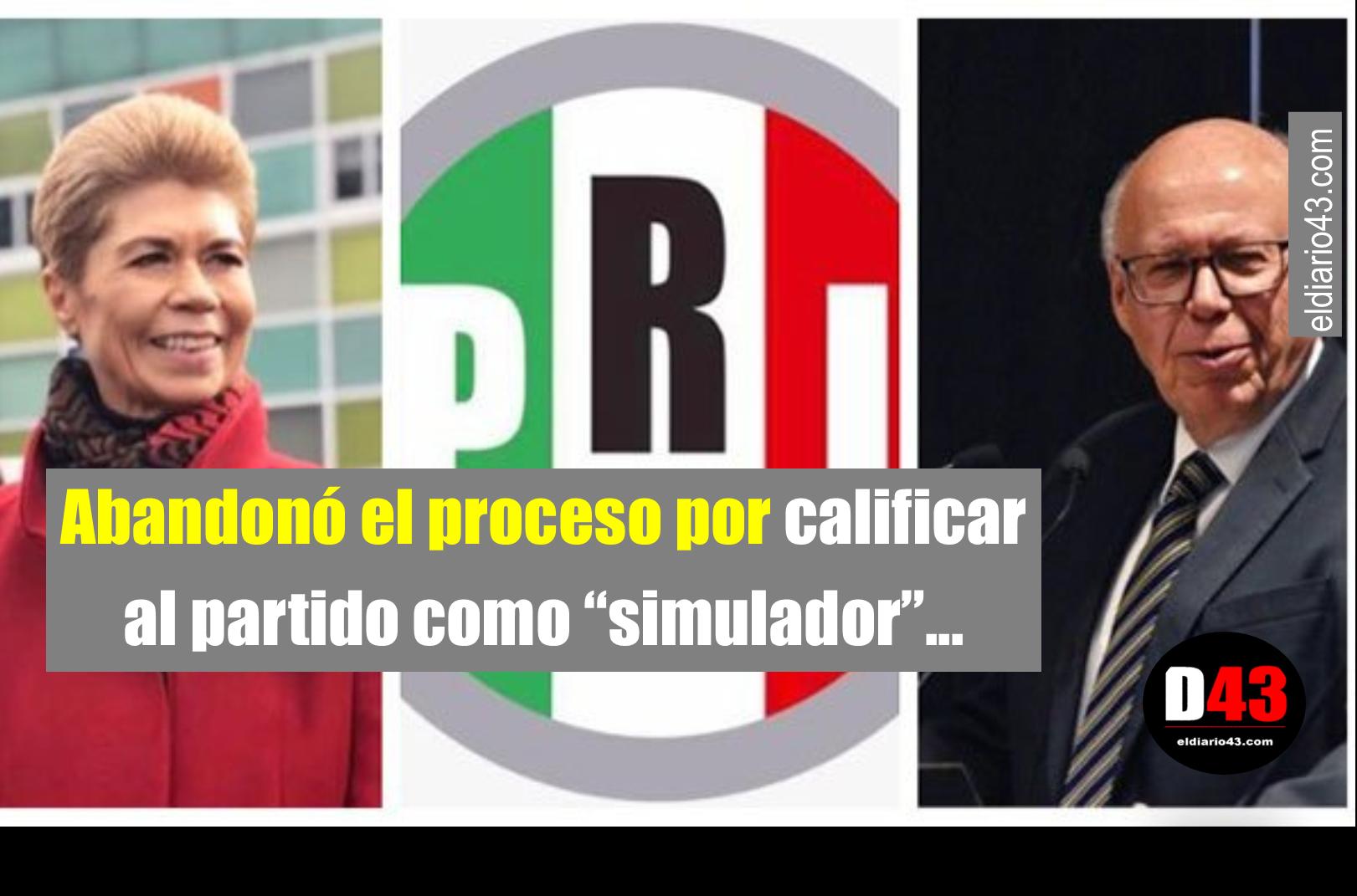 José Narro renuncia al PRI,también  Beatriz Pagés…