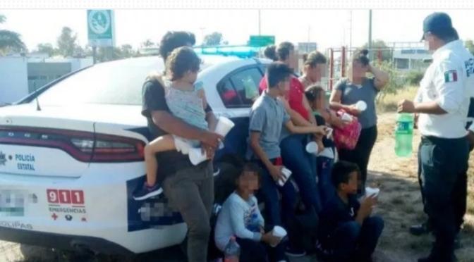En Reynosa Rescatan a nueve migrantes hondureños en margen del río Bravo