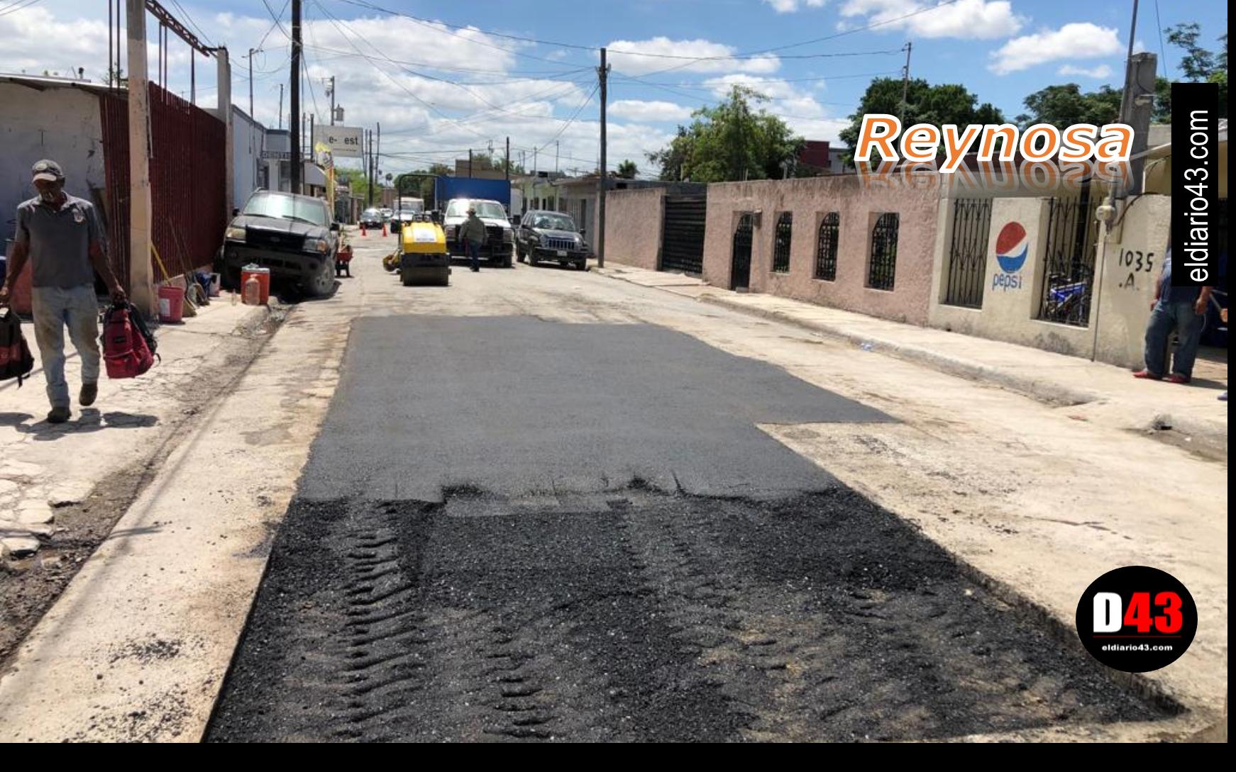 Cuadrillas del Gobierno de Reynosa rehabilitaron 699 baches con más de 950 toneladas de asfalto