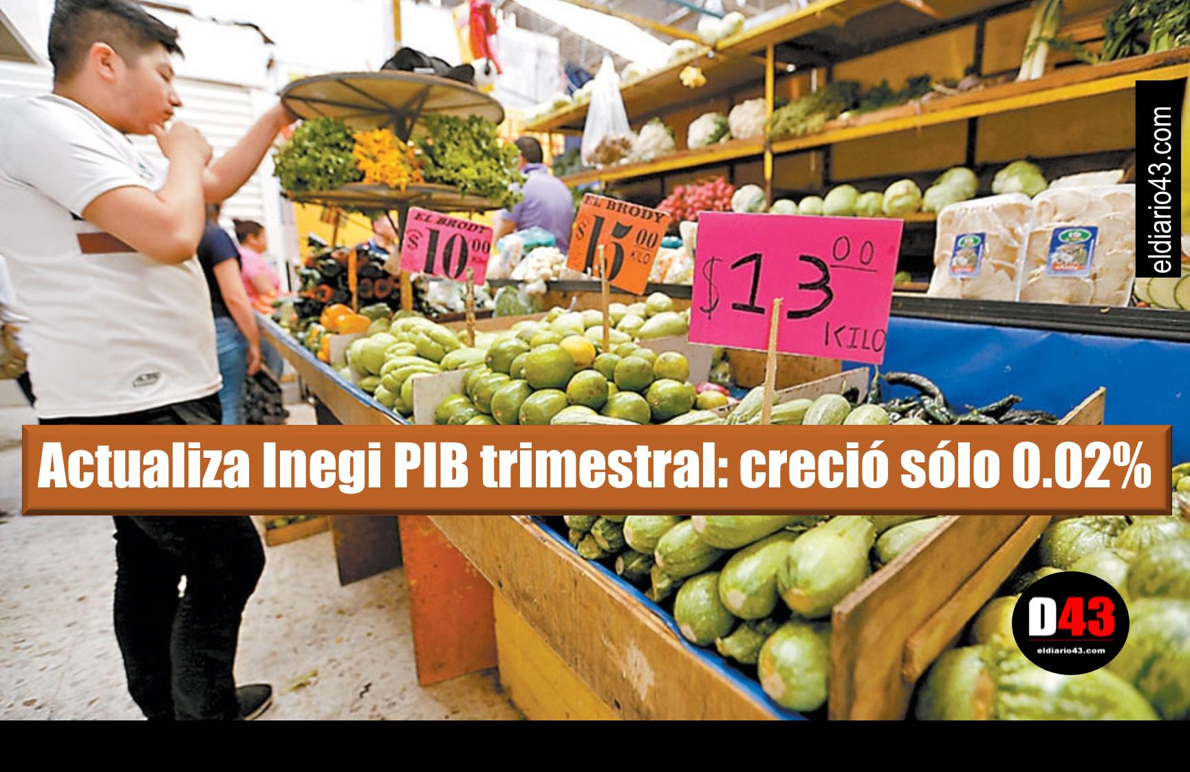 Economía estancada, revela el INEGI
