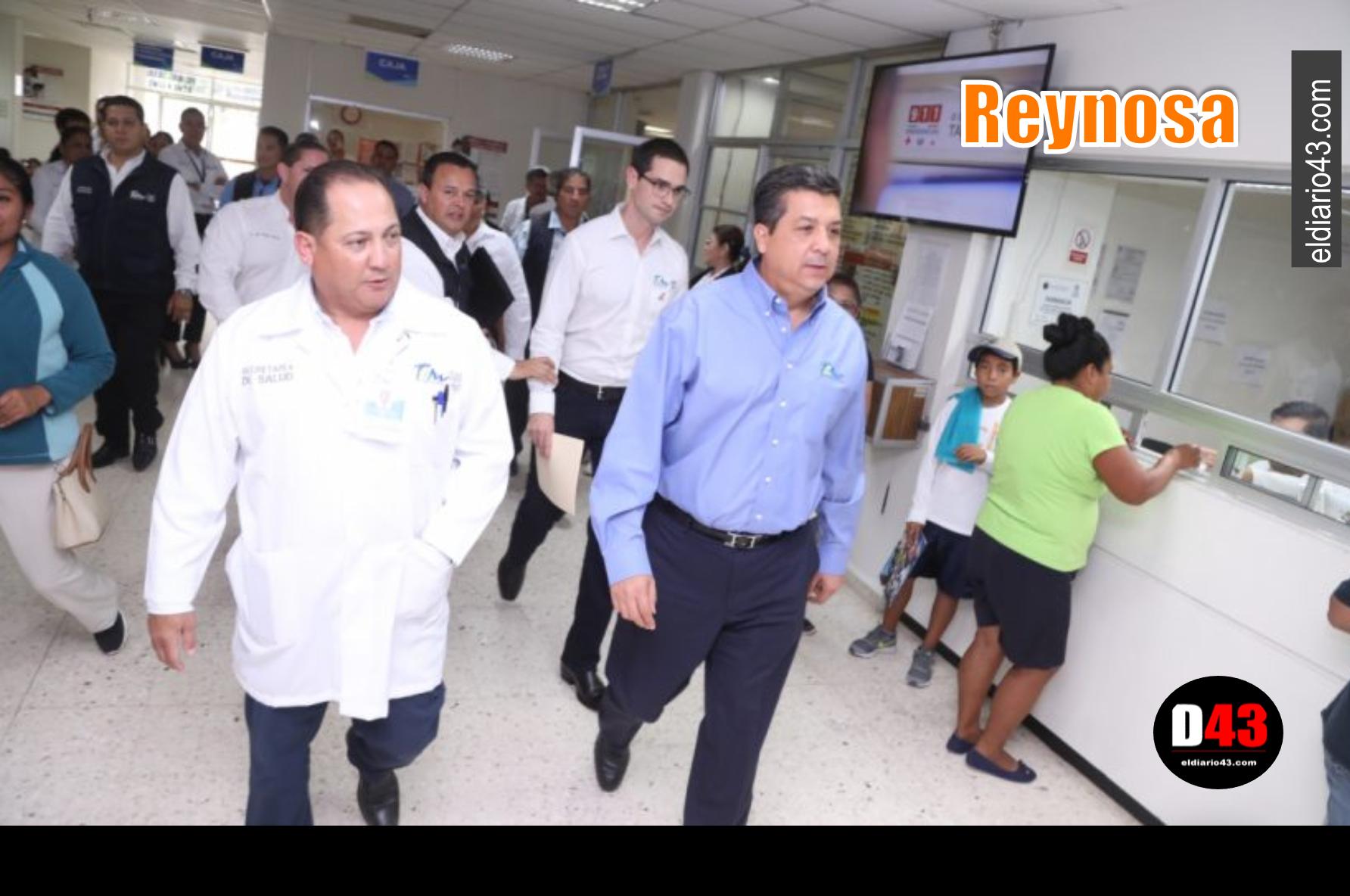 SUPERVISA GOBERNADOR TRABAJOS DE MODERNIZACIÓN DEL HOSPITAL GENERAL DE REYNOSA.