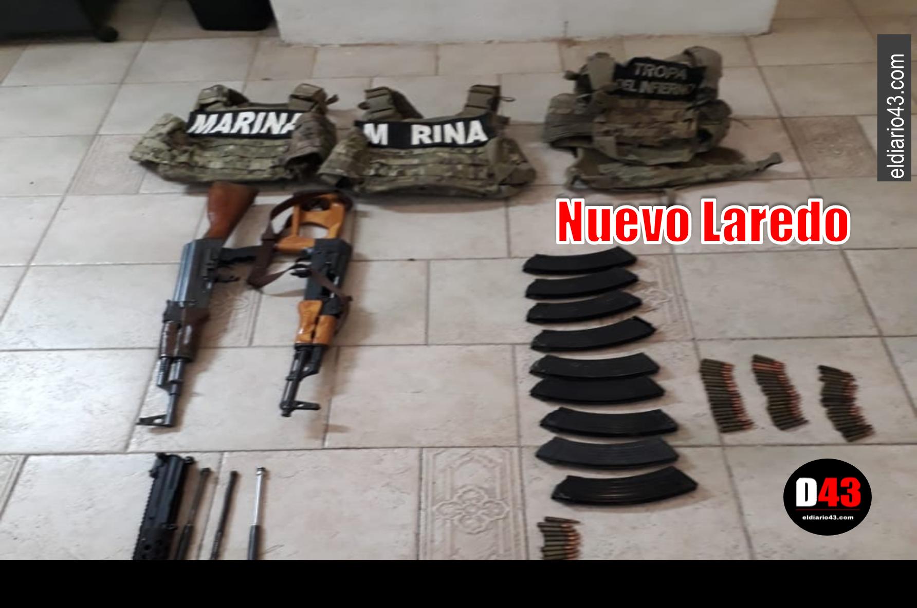 Aseguran armas y equipo táctico en Nuevo Laredo