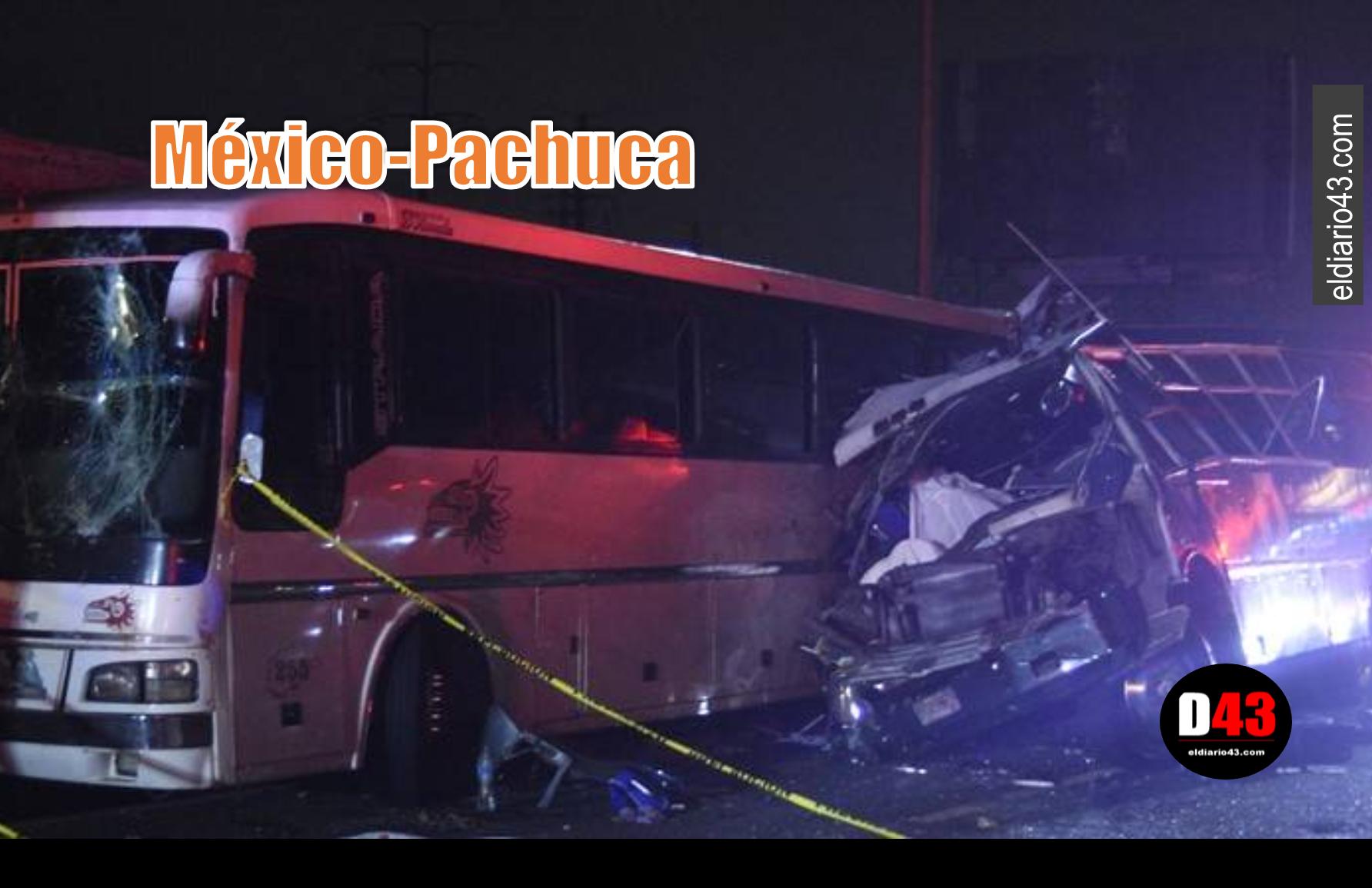 10 muertos y 25 heridos al chocar autobuses en la México-Pachuca