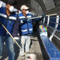 Intensifican limpieza y desinfección por COVID-19