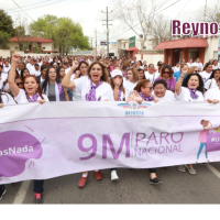 8M: Mujeres marchan en Reynosa