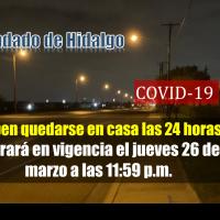 Orden de refugio obligatorio en Casa emitida para el Condado de Hidalgo