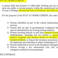 El condado de Hidalgo implementa el toque de queda