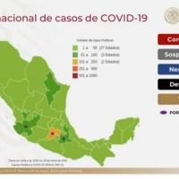 SSA reporta 993 casos confirmados de COVID-19 y 20 muertes en México