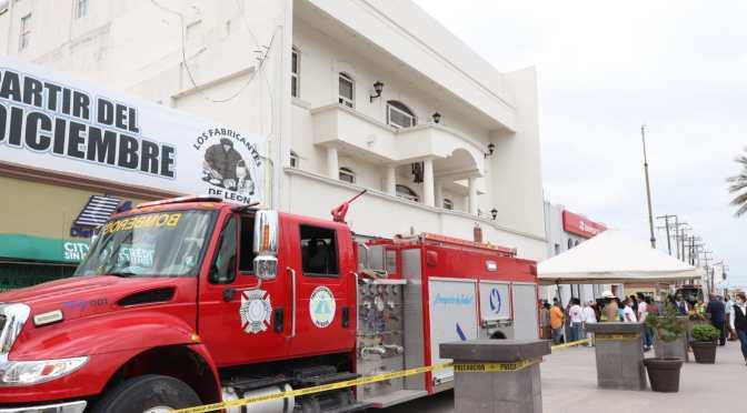 Resultado positivo de simulacro de incendio en Presidencia Municipal