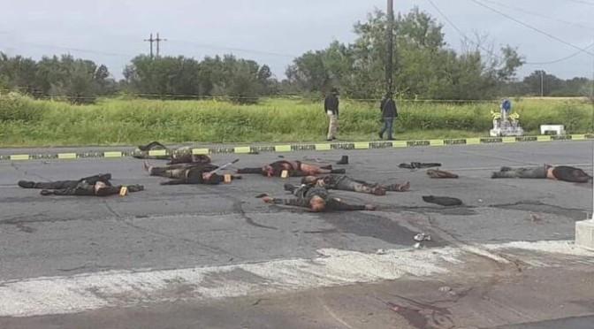 Hallan 9 personas asesinadas en Miguel Alemán, Tamaulipas