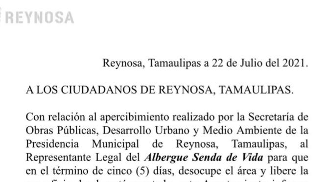 A LOS CIUDADANOS DE REYNOSA, TAMAULIPAS.