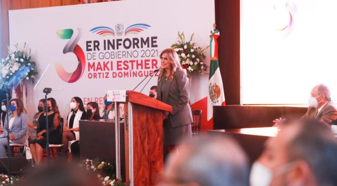 3er Informe. Gobierno de Reynosa; Maki Ortiz.