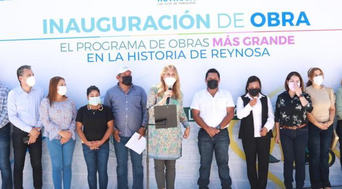 El programa de obras más grande beneficia a otras 6 colonias de Reynosa